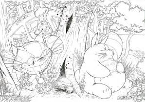coloring pages my neighbor totoro sketch template - Neighbor Totoro Coloring Pages