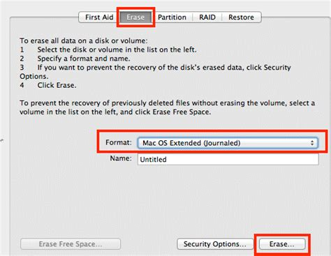 format external hard drive as mac os extended journaled how to erase and format external disks on your mac