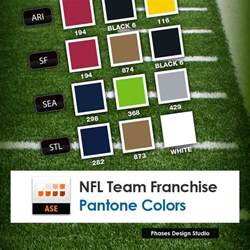 nfl team colors nfl pantone color swatches phases design studio
