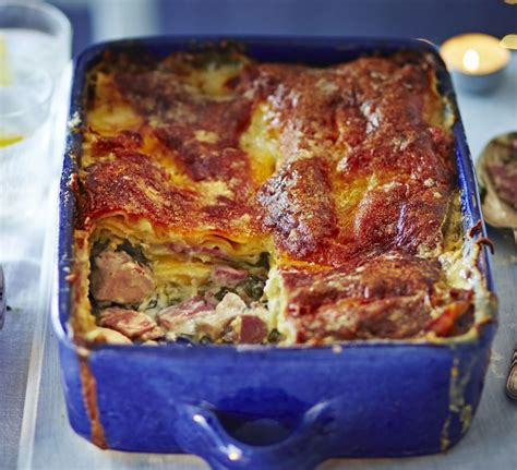 ham and chicken recipes chicken ham lasagne recipe food