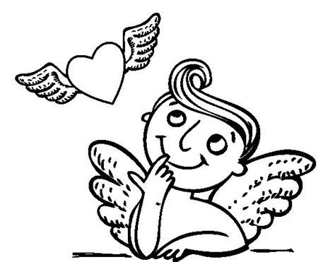 imagenes de corazones goticos con alas dibujo de cupido y coraz 243 n con alas para colorear