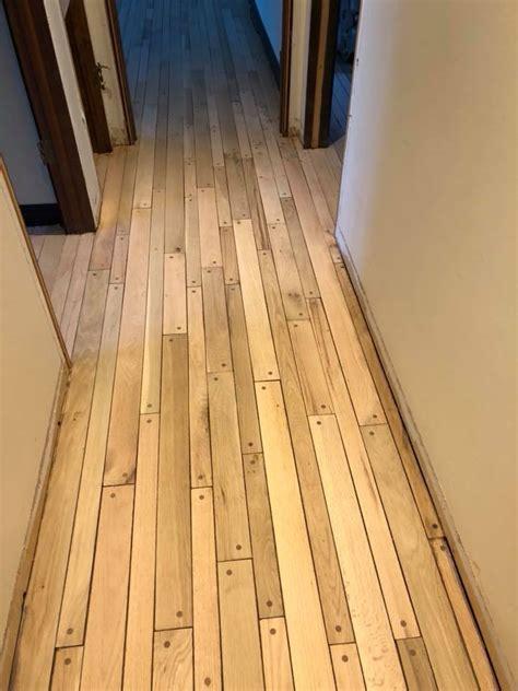 refinishing oak pegged hardwood floor in medinah tom