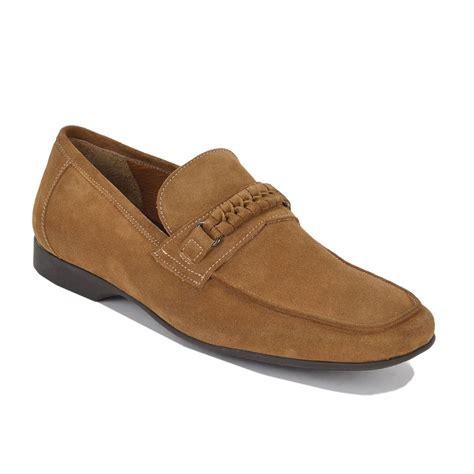bruno magli lorenzo suede casual loafers whiskey mensdesignershoe