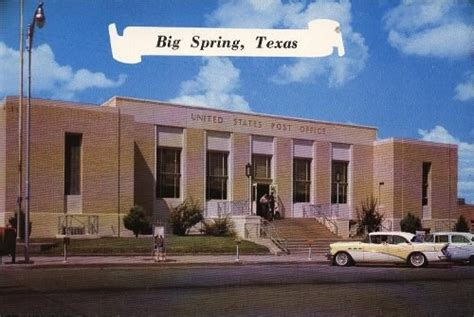 Post Office Temple Tx by Howard County Postcard