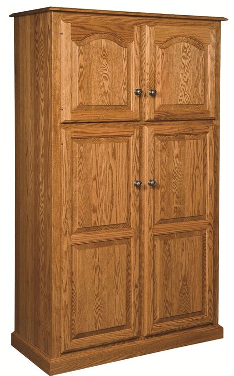 Pantry Storage Cabinet Amish Country Traditional Kitchen Pantry Storage Cupboard Cabinet Roll Shelf Oak