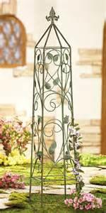 vine leaf obelisk metal garden trellis
