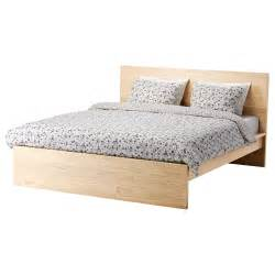 Ikea Bed Frame White Wood Malm Bed Frame High White Stained Oak Veneer L 246 Nset