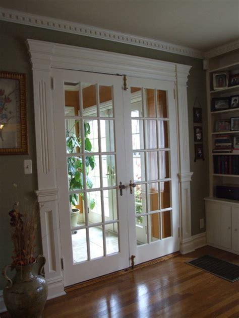 Living Room With Doors Ideas Belvidiere Door Trim Westfield Nj Traditional