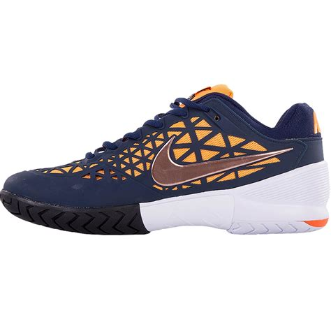 nike zoom cage 2 junior tennis shoe navy black citrus
