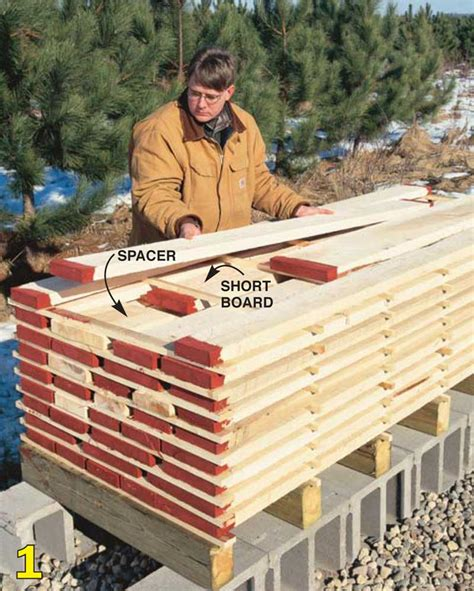 drying wood for woodworking air drying lumber popular woodworking magazine