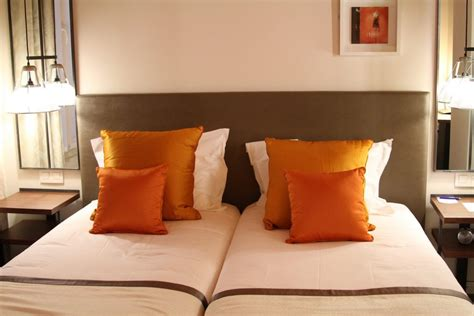 chambre orange et marron decoration chambre orange marron visuel 4