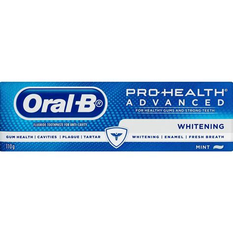 B Pro Health Toothpaste Freshmint 145gr b pro health toothpaste advanced whitening 110g woolworths
