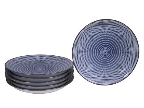 White Kitchen Canisters Sets blue and white modern spiral japanese plates set for six