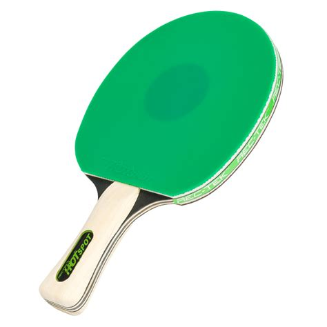 spot green table tennis paddle