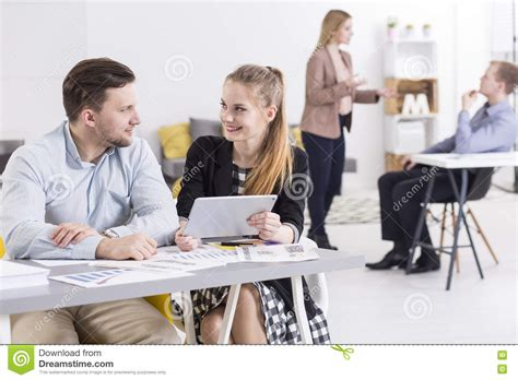 Cozy Company by Work In Small Cozy Company Stock Image Image Of Coworkers