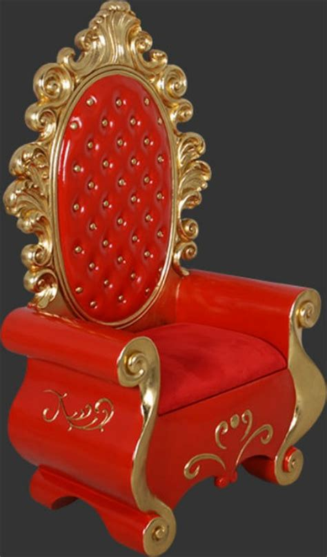 santa claus throne chair christmas chair life size prop