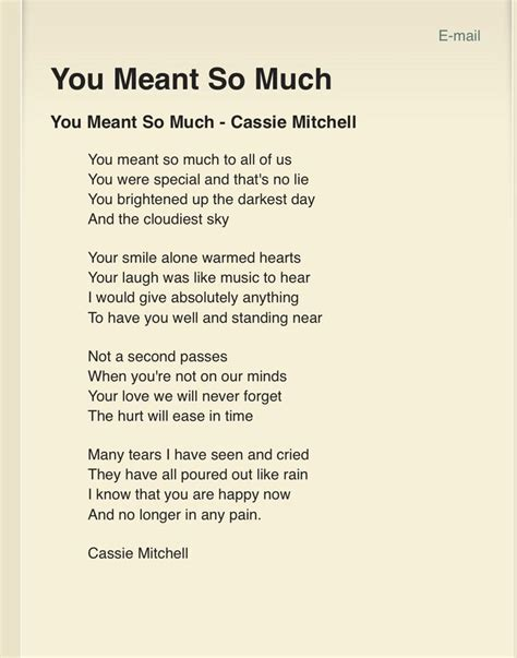A non religious funeral poem   Funerals   Pinterest