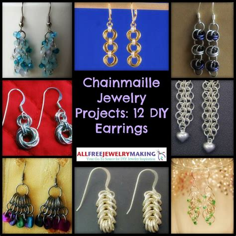 free jewelry projects chainmaille jewelry projects 12 diy earrings