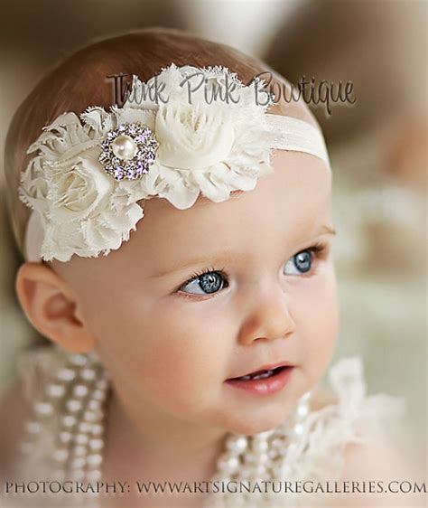 beautiful babies with headbands baby headbands ivory headband headband baby headbandnewborn