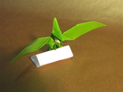 Pterodactyl Origami - origami pterodactyl pteranodon 1 by aarrnnoo0123 on