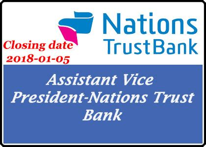bank closing date assistant vice president nations trust bank government