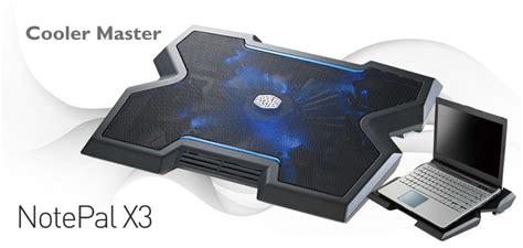 Cooler Master Notepal X3 Silent Fan Laptop Cooling Fan Black cooler master notepal x3 gaming laptop cooling pad with 200mm b
