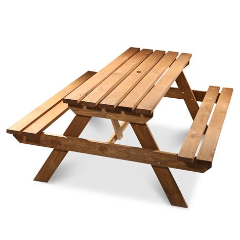 how is a picnic table agad wooden 6 seater picnic table departments diy at b q