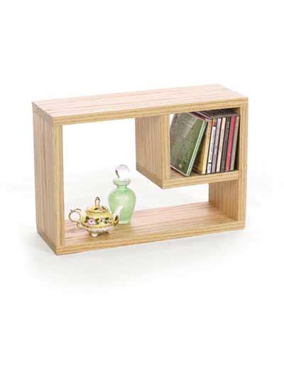 crafts home accents oak cd bookshelf