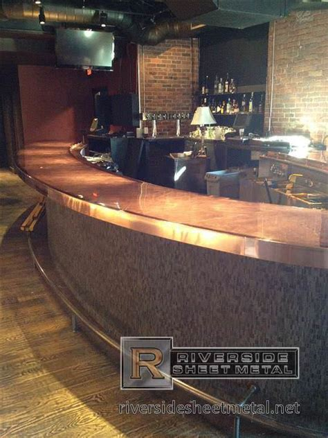 metal bar top copper bar copper counter tops riverside sheet metal