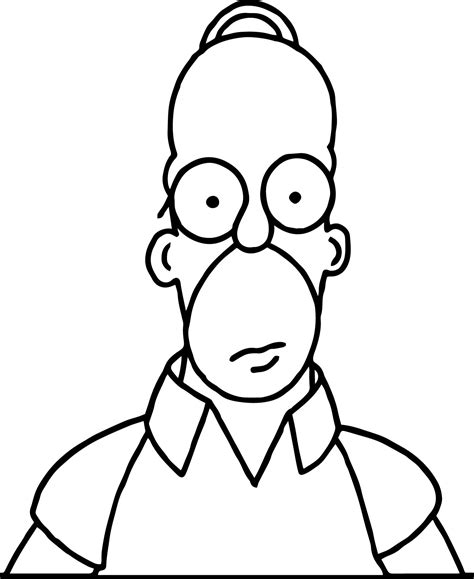 Homer The Simpsons Coloring Pages Wecoloringpage Homer Coloring Pages