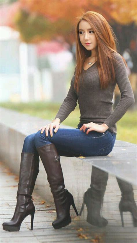 pretty thigh high boots 280 best leather boots images on