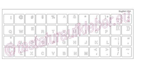Tastatur Aufkleber Transparent by Tastaturaufkleber Englisch Usa Weisse Schrift