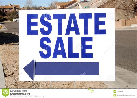 Yard Sale Search Nj Estate Sale Sign Royalty Free Stock Photo Image 1880805