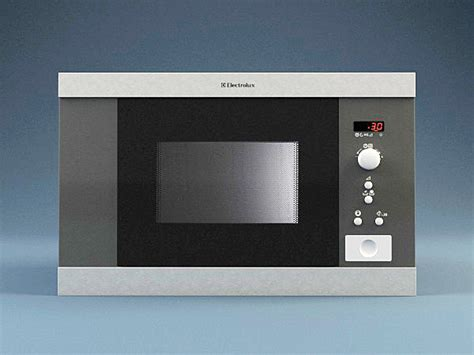 Microwave Electrolux Ems 3047x microwave electrolux ems17206x 3d model