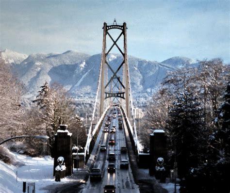 gm 16531 lions gate bridge vancouver winter snow 1990