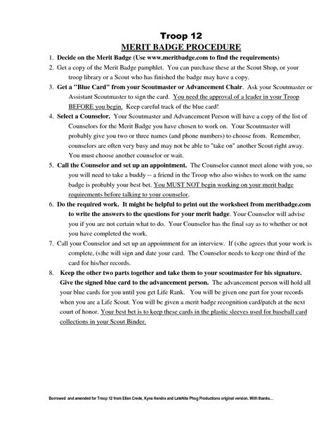 Boy Scout Cooking Merit Badge Worksheet Answers by 16 Best Images Of Family Worksheet Answers Family