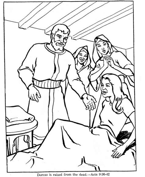 Coloring Page Acts 9 by Coloring June16