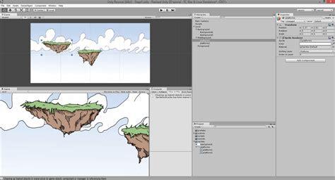 tutorial unity platform game adding and displaying a background pixelnest studio