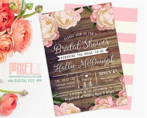 wood lace rustic bridal shower invitation card