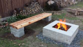 Cinder Block Firepit Cinder Block Bench For Your Home Outdoor S