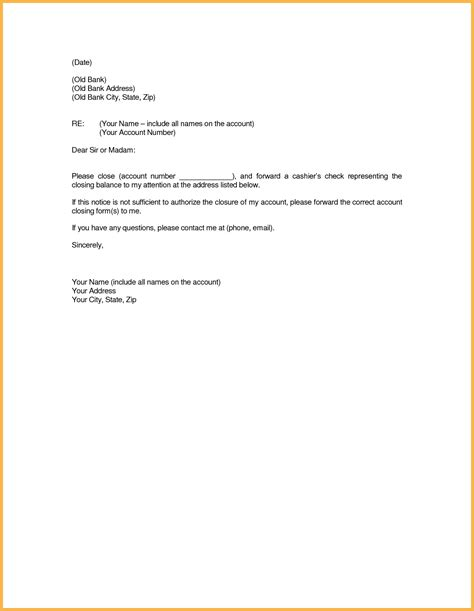 closing account letter letter format bank new best ideas of bank account closing