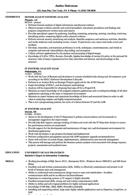 business system analyst resume sample resume examples sample systems