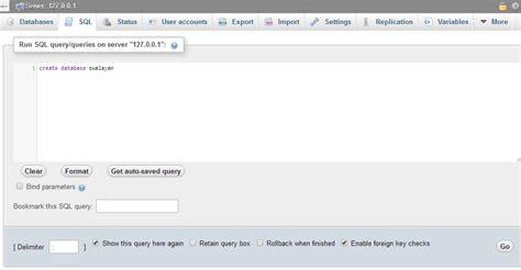 cara membuat database di query analyzer cara membuat database dengan mysql ambrosius haloho