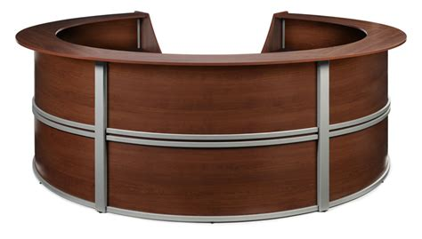 Oval Reception Desk 1pc Oval Modern Contemporary Office Reception Desk Of Mar R11 Ebay