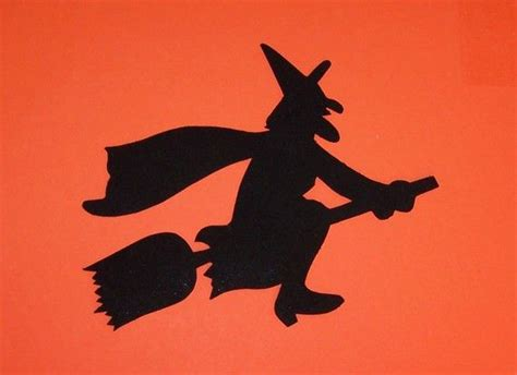 witch silhouette template fabric applique template only witch silouette applique