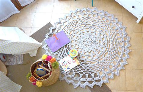 tappeto crochet tutorial per realizzare un tappeto crochet con fettuccia