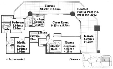 Las Olas Beach Club Floor Plans by Barcelona Floor Plan Metric System