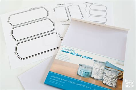 How To Make Stickers With Sticker Paper - labels for storage bins bags and baskets in my own style