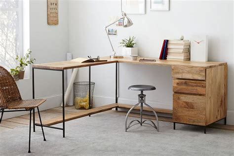 west elm desk l 12 industrial desks you ll want for your home office