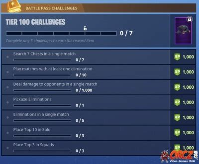 fortnite tier 100 challenges fortnite battle royale tier 100 challenges orcz